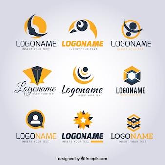 Coleção de logotipos abstrato moderno