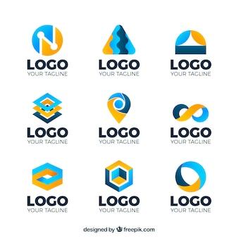 Coleção de logotipos coloridos abstratos