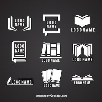 Coleção de logotipos com livros