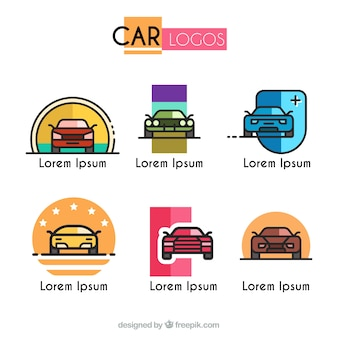 Coleção de logotipos de carros