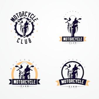 Coleção de logotipos de emblemas de motocicleta