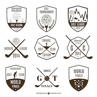 Coleção de logotipos do golfe do vintage