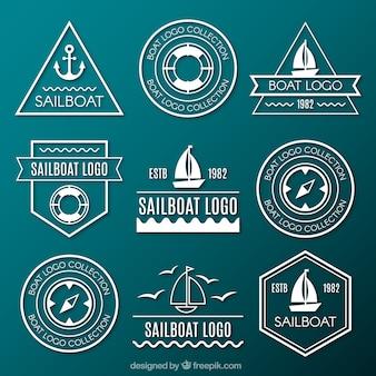 Coleção de logotipos marinhos