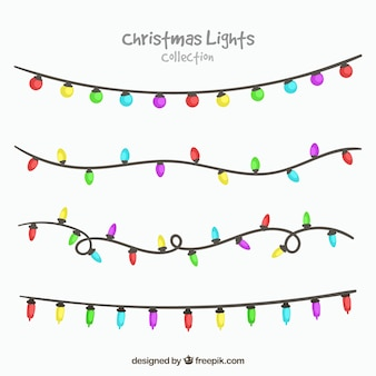 Coleção de luzes de Natal