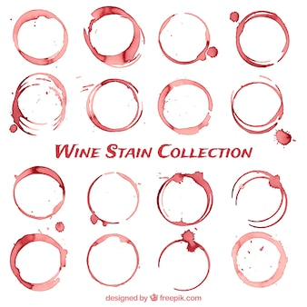 Coleção de manchas de vinho