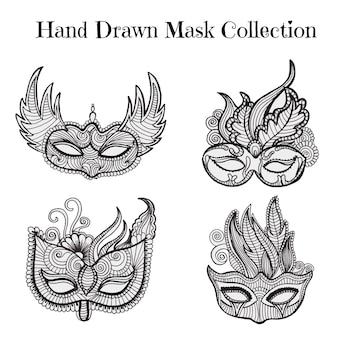 Coleção de máscara bonita