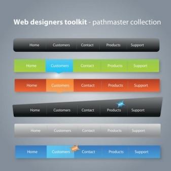 Coleção de menu para web design