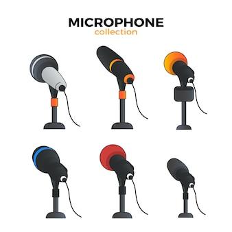 Coleção de microfone plano
