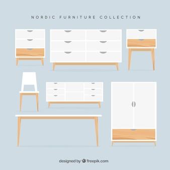 Coleção de mobiliário nórdico