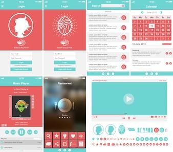 Coleção de modelo de aplicativo móvel