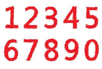 Coleção de números vermelhos