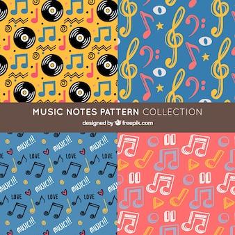Coleção de padrões de notas de música