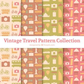 Coleção de padrões de viagem vintage