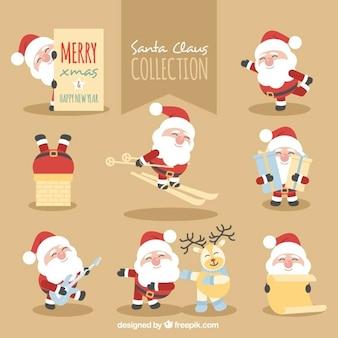Coleção de Papai Noel que faz várias atividades