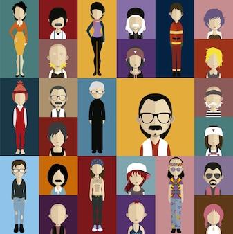Coleção de personagens de moda