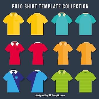 Coleção de pólos coloridos