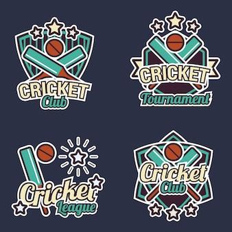 Coleção de rótulos de Cricket
