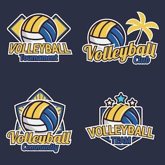 Coleção de rótulos de voleibol