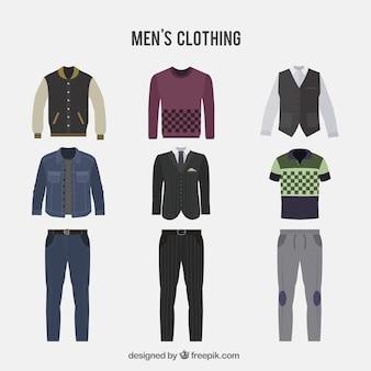Coleção de roupas masculinas