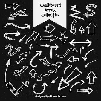Coleção de seta desenhada a mão