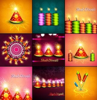 coleção de Shub Diwali cartões