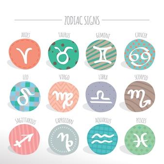 Coleção de sinais do zodíaco