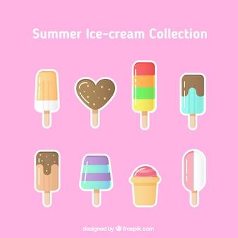 Coleção de sorvete adesivo