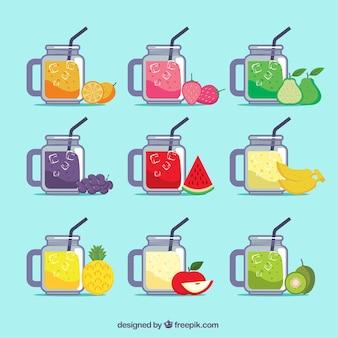 Coleção de suco de frutas