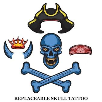 Coleção de tatuagem de crânio