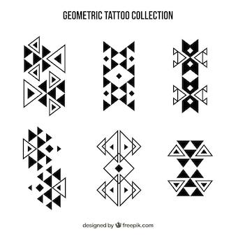 Coleção de tatuagens de formas geométricas abstratas