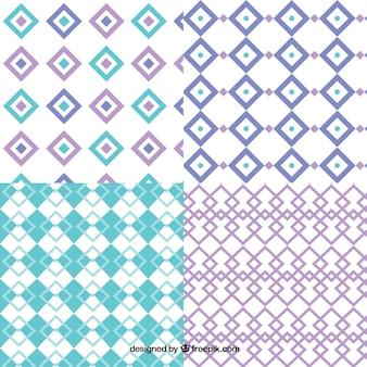 Coleção de testes padrões do diamante com formas geométricas