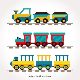 Coleção de trens infantis