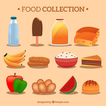 coleção deliciosa comida