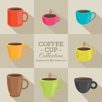 Coleção do copo de café