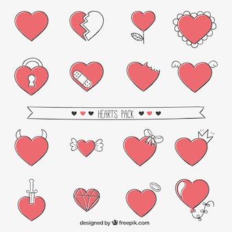 Coleção do coração bonito