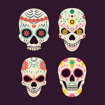 Coleção do crânio mexicano