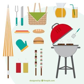 Coleção do dia barbecue bonito