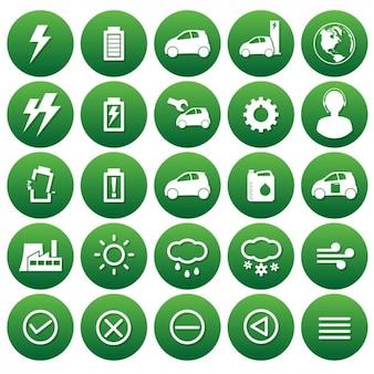 Coleção do ícone da ecologia