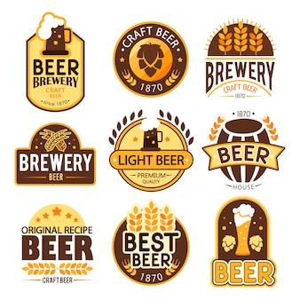 Coleção do logotipo da cerveja