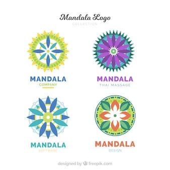 Coleção do logotipo da mandala