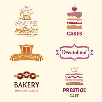 Coleção do logotipo da padaria