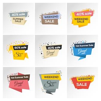 Coleção do logotipo de vendas