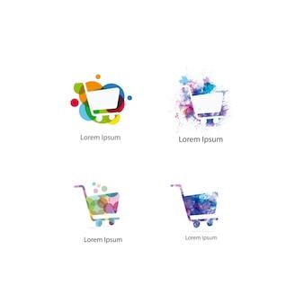Coleção do logotipo do carrinho de compras