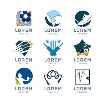 Coleção do logotipo do esporte