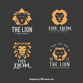 Coleção do logotipo do leão