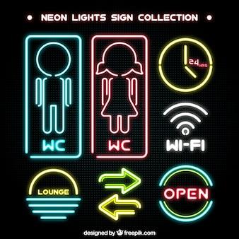 Coleção do sinal de néon