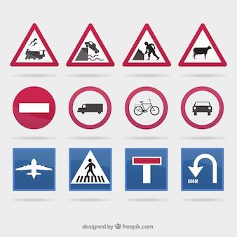 Coleção do sinal de tráfego