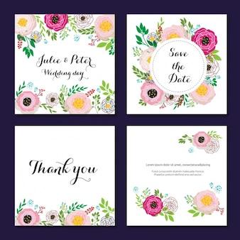 Coleção dos convites do casamento