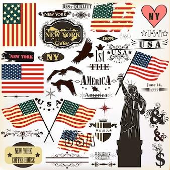 Coleção dos elementos americanos