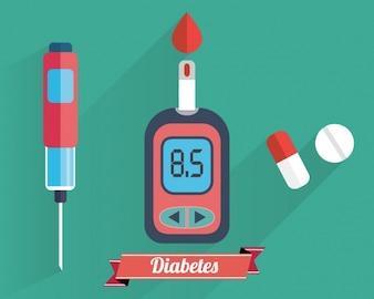 Coleção dos elementos do Diabetes